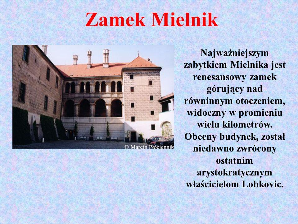 Zamek Mielnik Najważniejszym zabytkiem Mielnika jest renesansowy zamek górujący nad równinnym otoczeniem, widoczny w promieniu wielu kilometrów. Obecn
