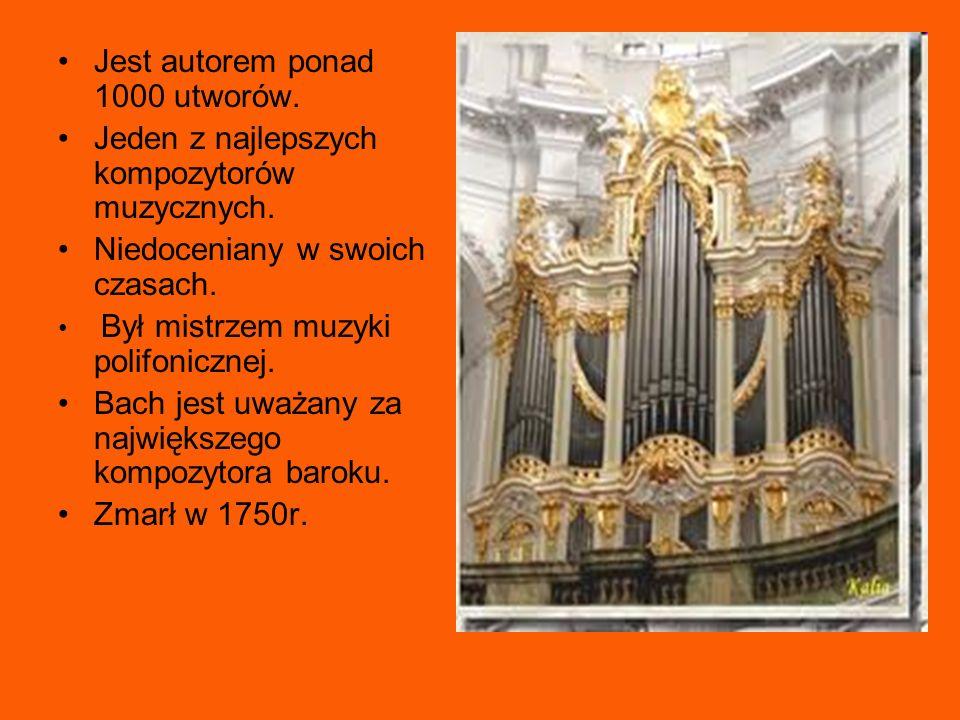 Jest autorem ponad 1000 utworów. Jeden z najlepszych kompozytorów muzycznych. Niedoceniany w swoich czasach. Był mistrzem muzyki polifonicznej. Bach j