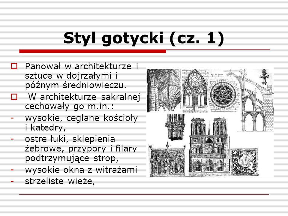 Styl gotycki (cz. 2)