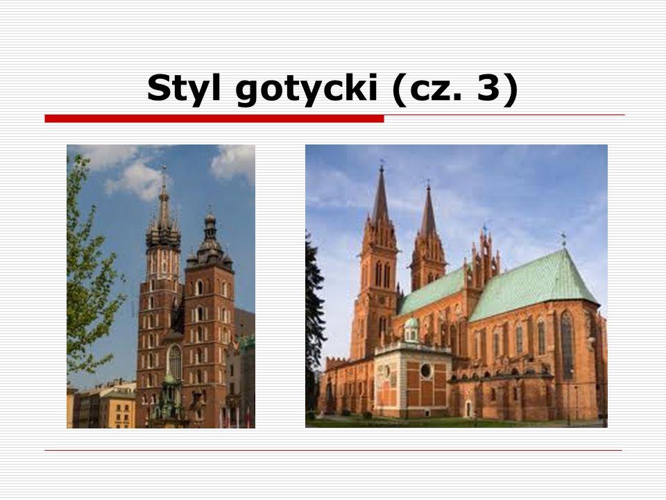 Styl gotycki (cz. 4) portalwitraż