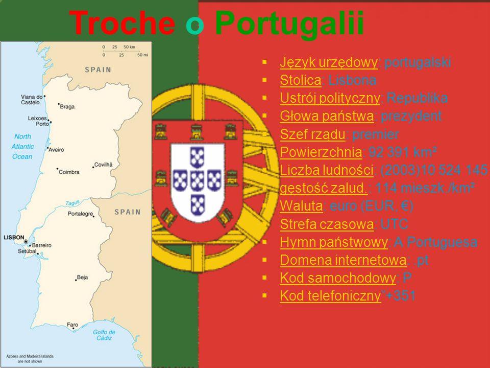 Język urzędowy: portugalski Język urzędowy Stolica: Lisbona Stolica Ustrój polityczny: Republika Ustrój polityczny Głowa państwa: prezydent Głowa pańs