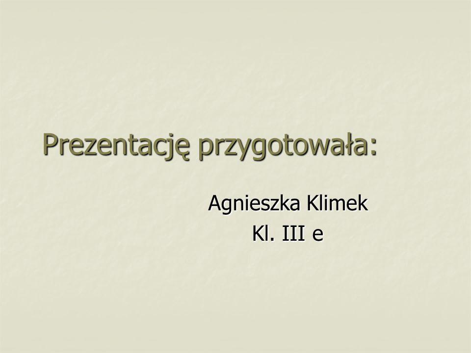 Prezentację przygotowała: Agnieszka Klimek Kl. III e