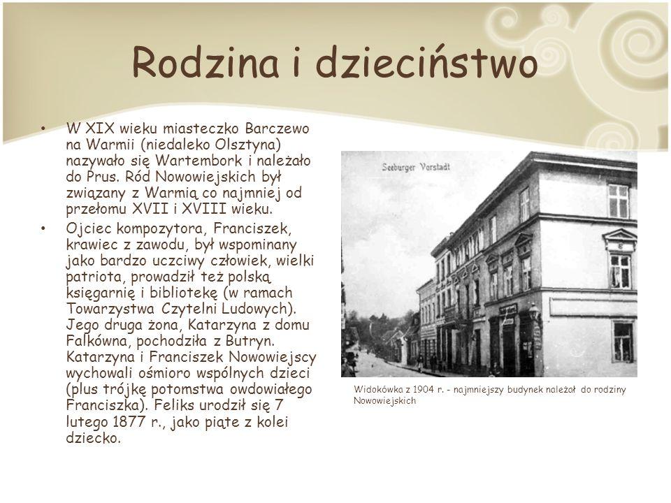 Rodzina i dzieciństwo W XIX wieku miasteczko Barczewo na Warmii (niedaleko Olsztyna) nazywało się Wartembork i należało do Prus.