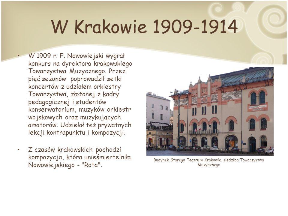W Krakowie 1909-1914 W 1909 r.F.