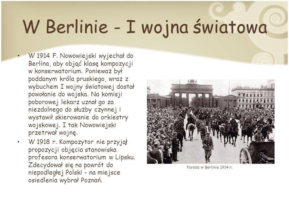 W Berlinie - I wojna światowa W 1914 F.