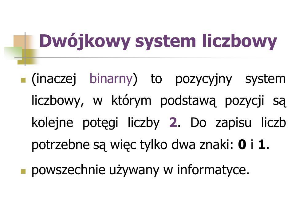 Jak w każdym pozycyjnym systemie liczbowym, liczby zapisuje się tu jako ciągi cyfr, z których każda jest mnożnikiem kolejnej potęgi liczby będącej podstawą systemu, np.