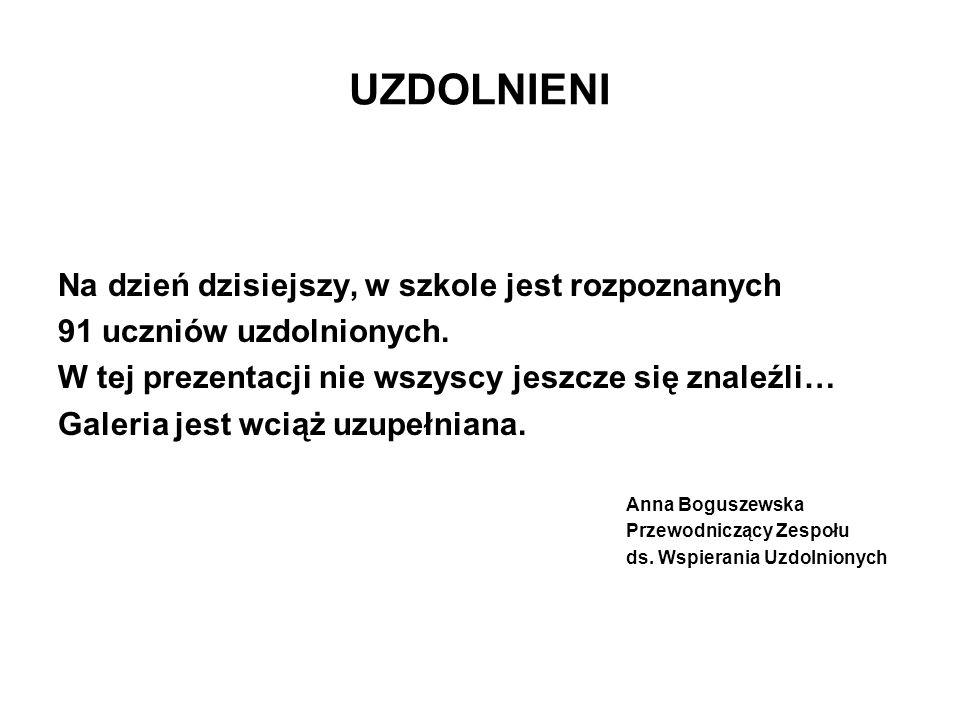 Kuba Ślązek 3 A Uzdolniony matematycznie.
