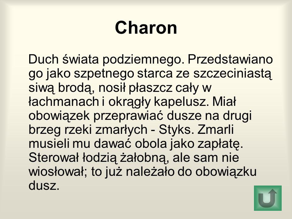 Charon Duch świata podziemnego.