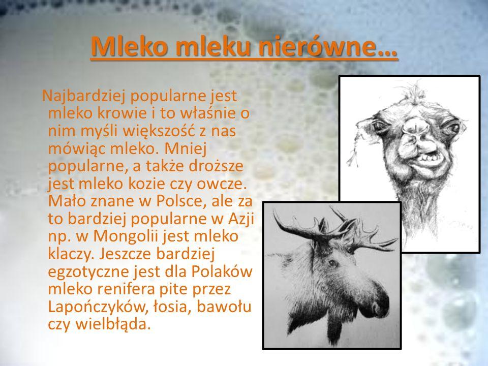 Nie tylko od zwierząt… Oprócz mleka zwierzęcego, dostępne jest także mleko roślinne , np.