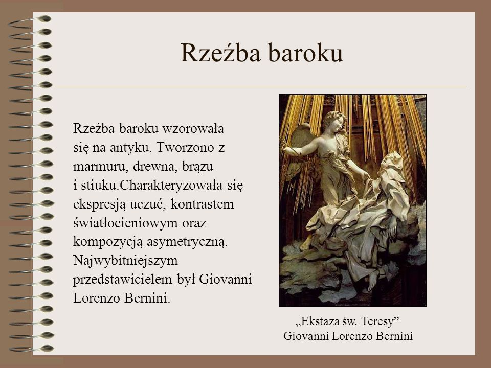 Wybitni archtekci Giacomo Barozzi da Vignola Giovanni Lorenzo Bernini Francesco Borromini Jose Benito de Churriguera Kilian Ignaz Dientzenhofer Johann