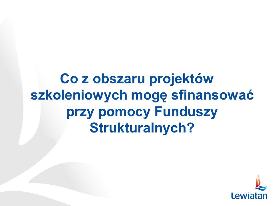 Co z obszaru projektów szkoleniowych mogę sfinansować przy pomocy Funduszy Strukturalnych?