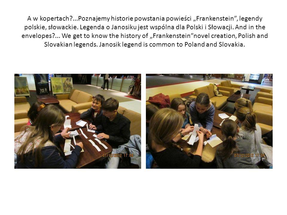A w kopertach ...Poznajemy historie powstania powieści Frankenstein, legendy polskie, słowackie.
