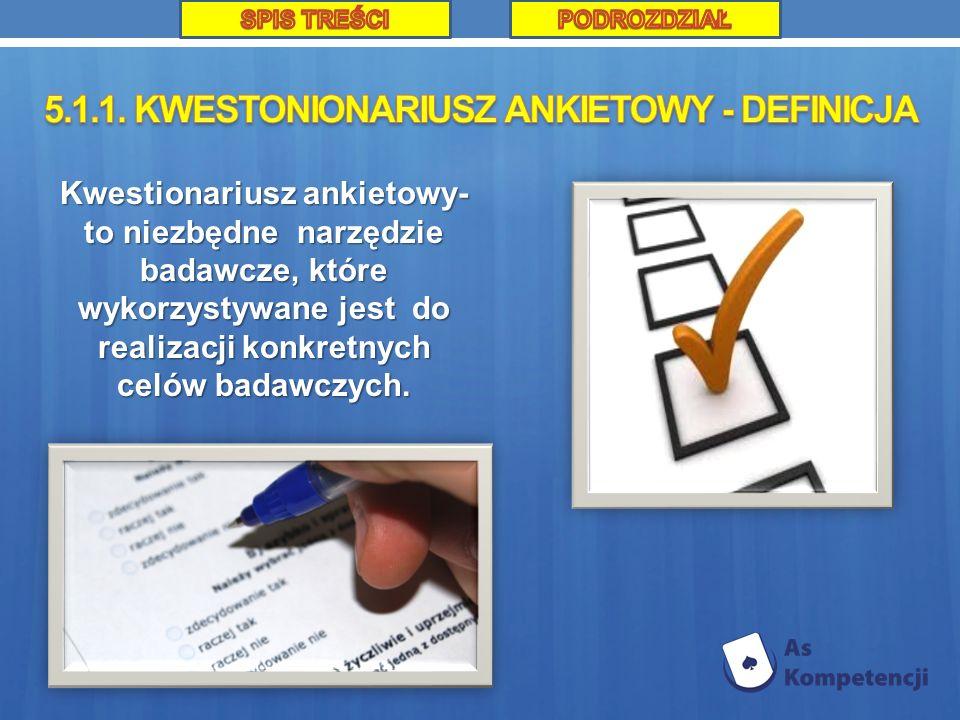 Kwestionariusz ankietowy- to niezbędne narzędzie badawcze, które wykorzystywane jest do realizacji konkretnych celów badawczych.