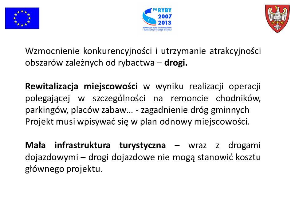 Wzmocnienie konkurencyjności i utrzymanie atrakcyjności obszarów zależnych od rybactwa – drogi.
