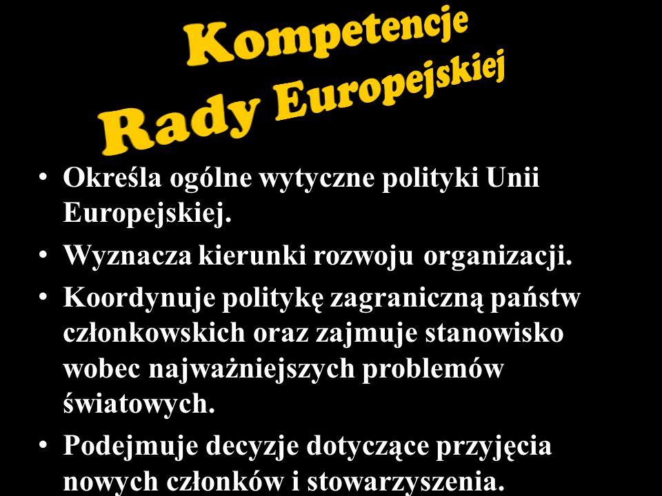 Określa ogólne wytyczne polityki Unii Europejskiej.