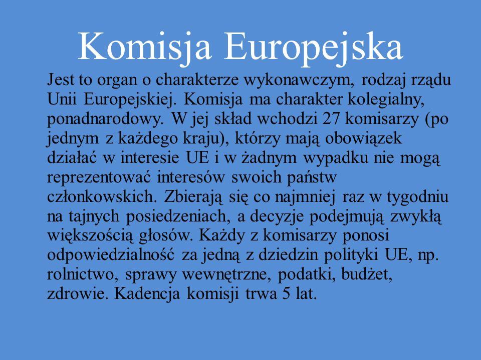 Jest to organ o charakterze wykonawczym, rodzaj rządu Unii Europejskiej.