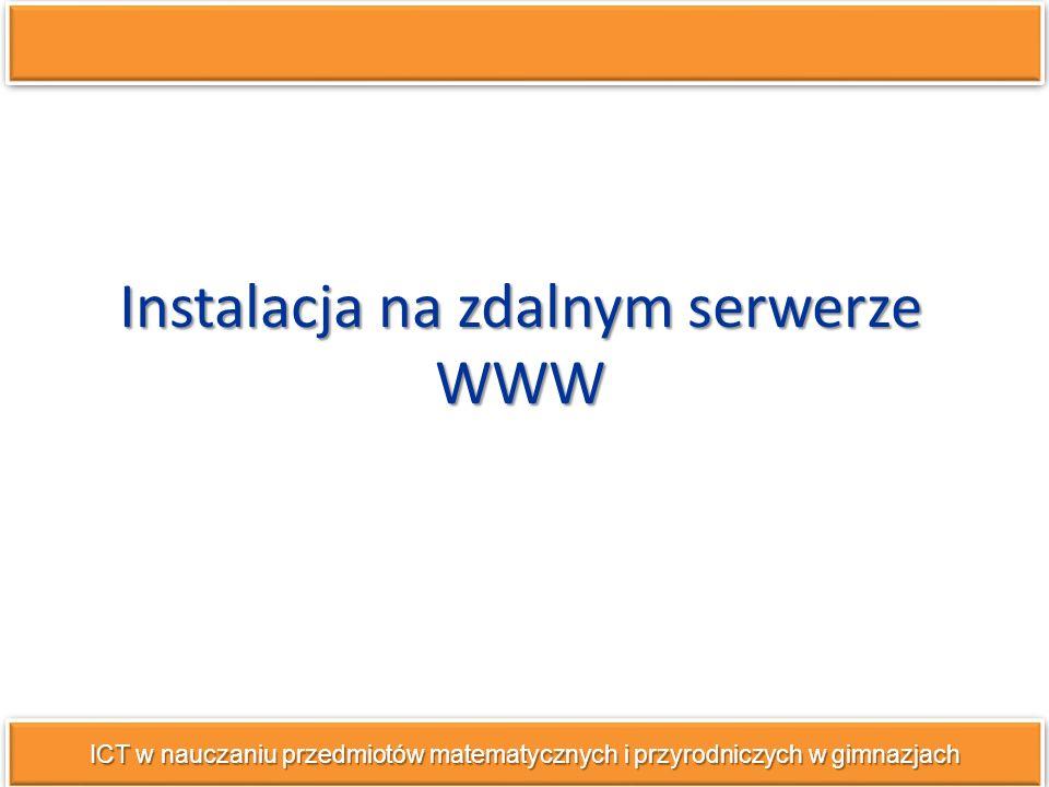 Instalacja na zdalnym serwerze WWW