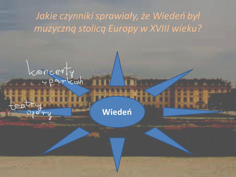 Jakie czynniki sprawiały, że Wiedeń był muzyczną stolicą Europy w XVIII wieku? Wiedeń
