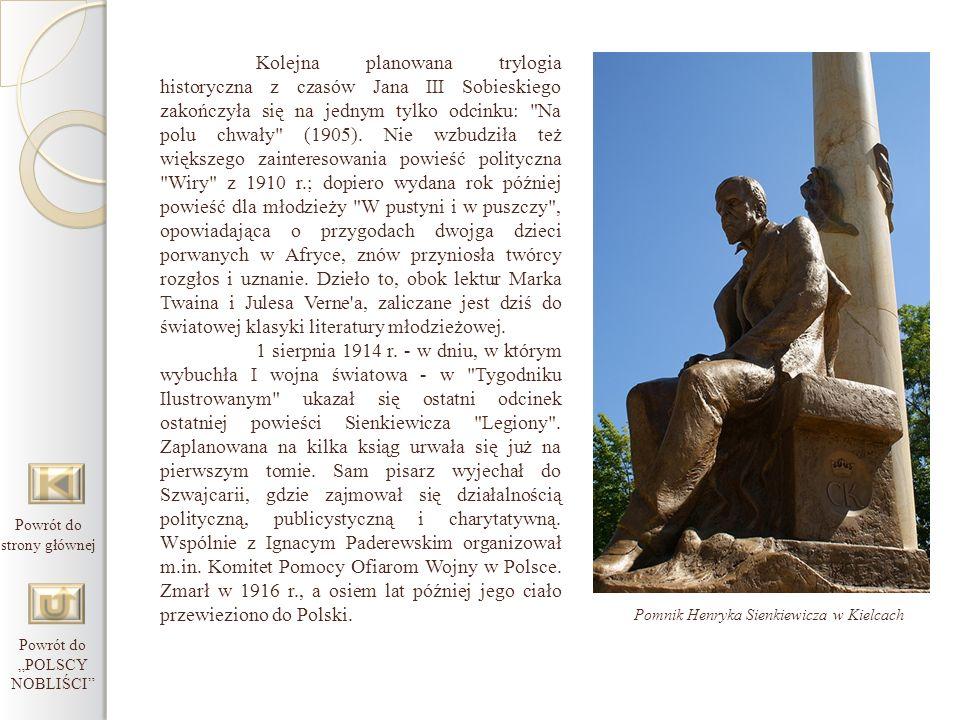 Kolejna planowana trylogia historyczna z czasów Jana III Sobieskiego zakończyła się na jednym tylko odcinku: