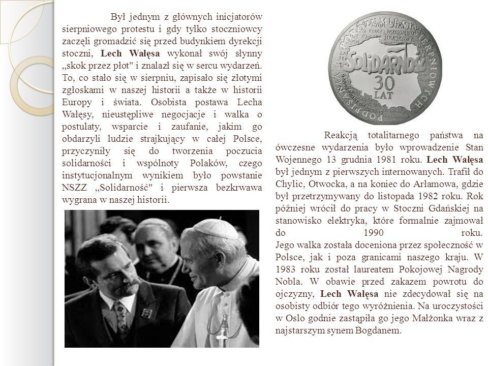 Reakcją totalitarnego państwa na ówczesne wydarzenia było wprowadzenie Stan Wojennego 13 grudnia 1981 roku. Lech Wałęsa był jednym z pierwszych intern