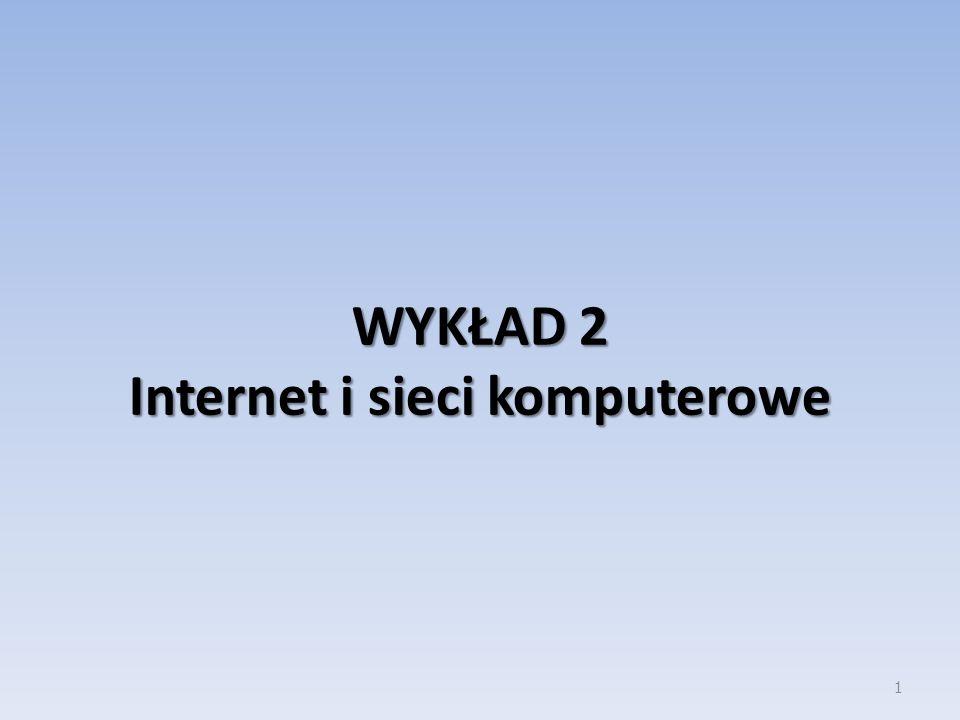 42 Fizyczna budowa sieci Karta sieciowa komputera do hub-a lub switch-a lub router-a Hub-y między sobą Switch-e między hub-ami Ostatni hub do routera Routery między sobą lub do serwerów