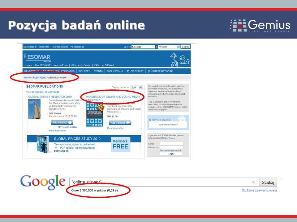 Pozycja badań online