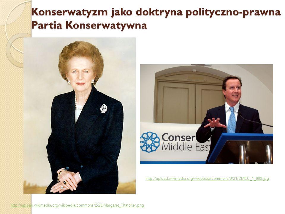 Konserwatyzm jako doktryna polityczno-prawna Partia Konserwatywna http://upload.wikimedia.org/wikipedia/commons/2/20/Margaret_Thatcher.png http://uplo