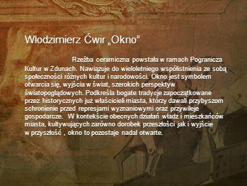 Włodzimierz Ćwir Urodzony urodzony 1956 r. w Głuchołazach. Studia: Państwowa Wyższa Szkoła Sztuk Plastycznych we Wrocławiu na Wydziale Ceramiki pod ki