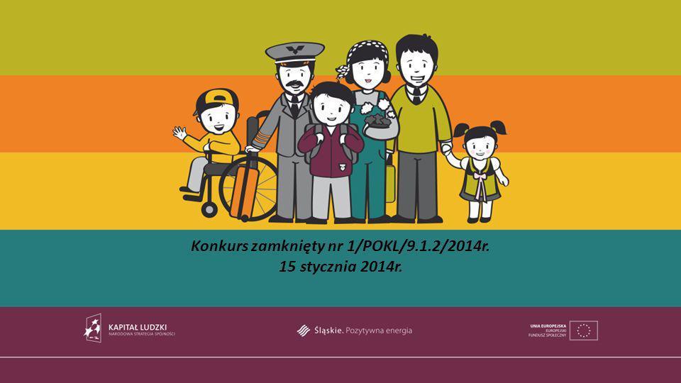 Konkurs zamknięty nr 1/POKL/9.1.2/2014r. 15 stycznia 2014r.