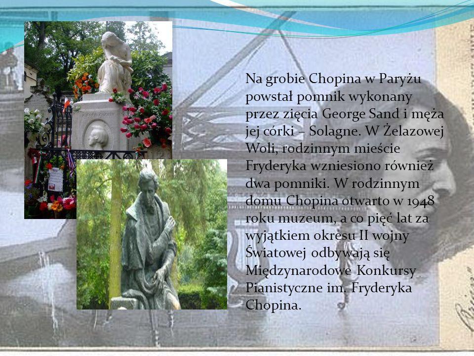 Fryderyk Chopin ostatnie lata… Kondycja fizyczna i psychiczna Chopina pogorszyła się znacznie. Aby odciągnąć go od zmartwień, przyjaciele namówili go