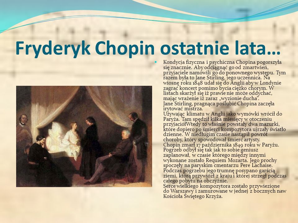 Miłość Chopin poznał George Sand jesienią 1836 w salonie Marii d'Agoult w Paryżu i chociaż nie wywarła na nim dobrego wrażenia (