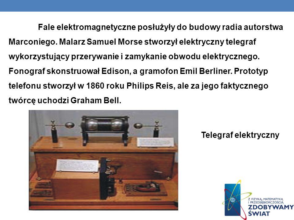Fale elektromagnetyczne posłużyły do budowy radia autorstwa Marconiego. Malarz Samuel Morse stworzył elektryczny telegraf wykorzystujący przerywanie i