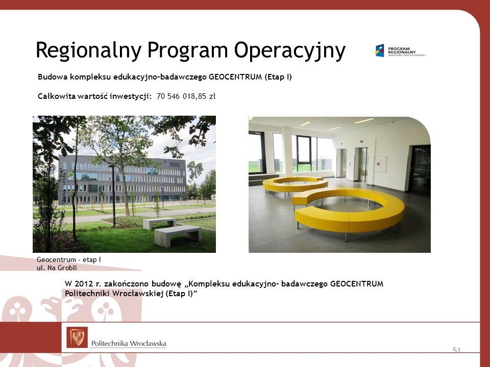 Regionalny Program Operacyjny Geocentrum - etap I ul.