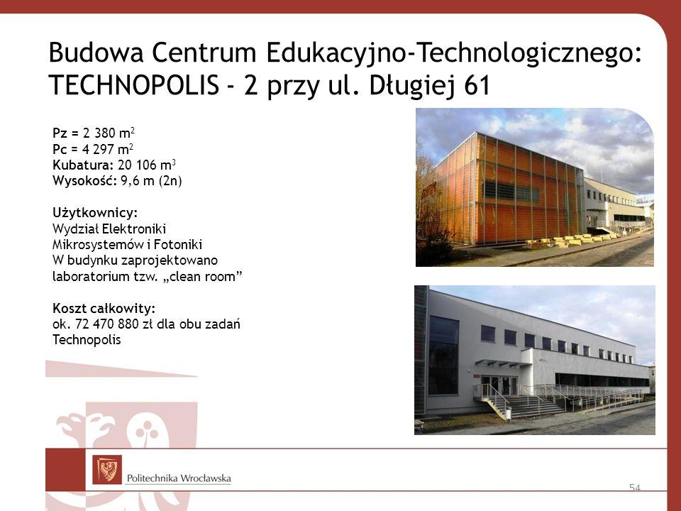 Budowa Centrum Edukacyjno-Technologicznego: TECHNOPOLIS - 2 przy ul.