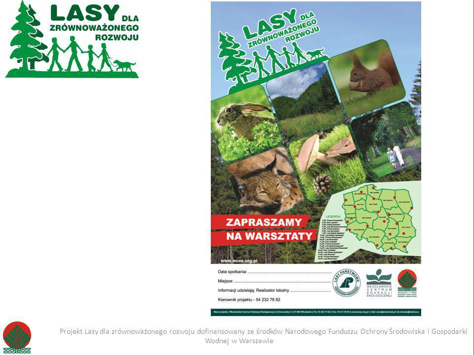 Kliknij, aby edytować styl Projekt Lasy dla zrównoważonego rozwoju dofinansowany ze środków Narodowego Funduszu Ochrony Środowiska i Gospodarki Wodnej w Warszawie Imię i nazwisko Projekt Lasy dla zrównoważonego rozwoju dofinansowany ze środków Narodowego Funduszu Ochrony Środowiska i Gospodarki Wodnej w Warszawie Warsztaty dla dzieci z przedszkoli 8h Co to jest las.