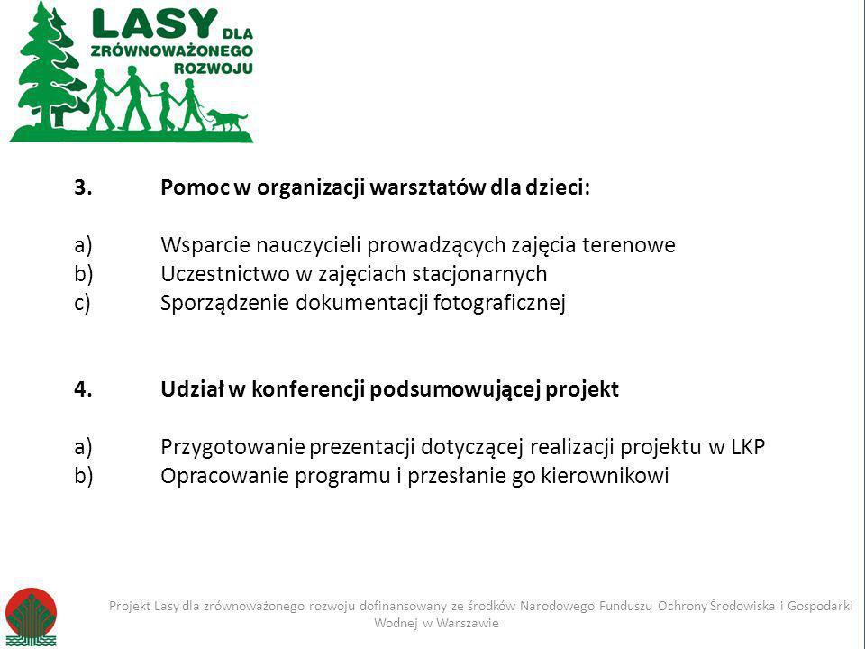 Kliknij, aby edytować styl Projekt Lasy dla zrównoważonego rozwoju dofinansowany ze środków Narodowego Funduszu Ochrony Środowiska i Gospodarki Wodnej w Warszawie Imię i nazwisko Projekt Lasy dla zrównoważonego rozwoju dofinansowany ze środków Narodowego Funduszu Ochrony Środowiska i Gospodarki Wodnej w Warszawie 1.
