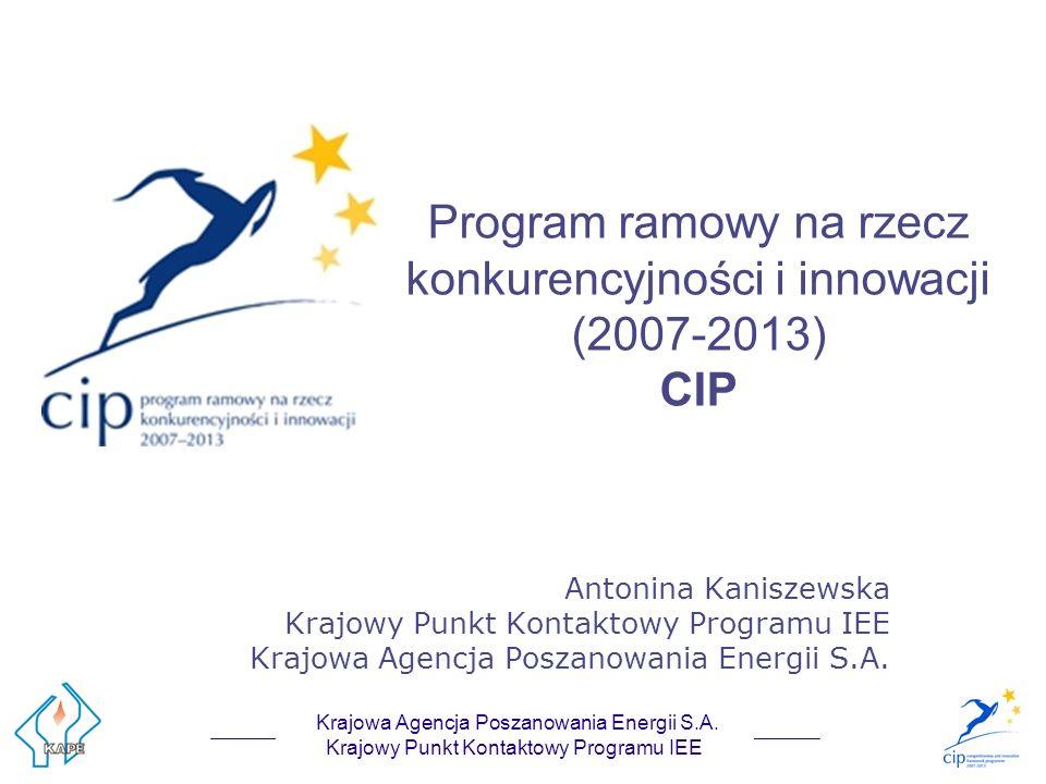 Kontakt Krajowy Punkt Kontaktowy Programu Inteligentna Energia – Europa Krajowa Agencja Poszanowania Energii S.A.