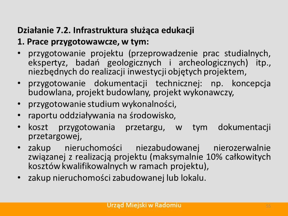 Działanie 7.2. Infrastruktura służąca edukacji 1.