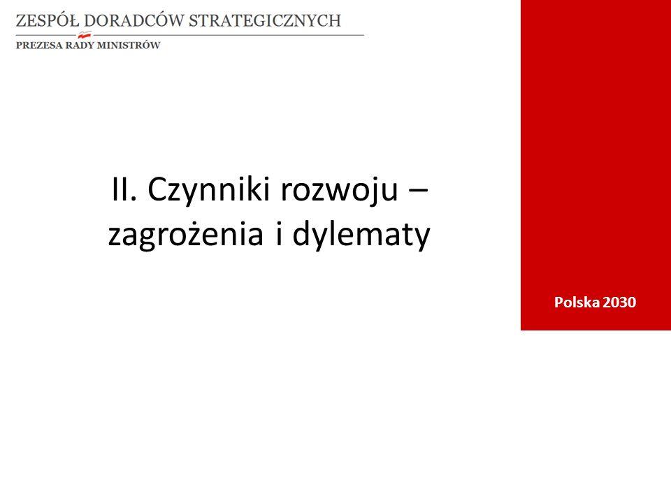 Polska 2030 II. Czynniki rozwoju – zagrożenia i dylematy