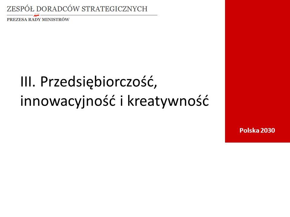 Polska 2030 III. Przedsiębiorczość, innowacyjność i kreatywność