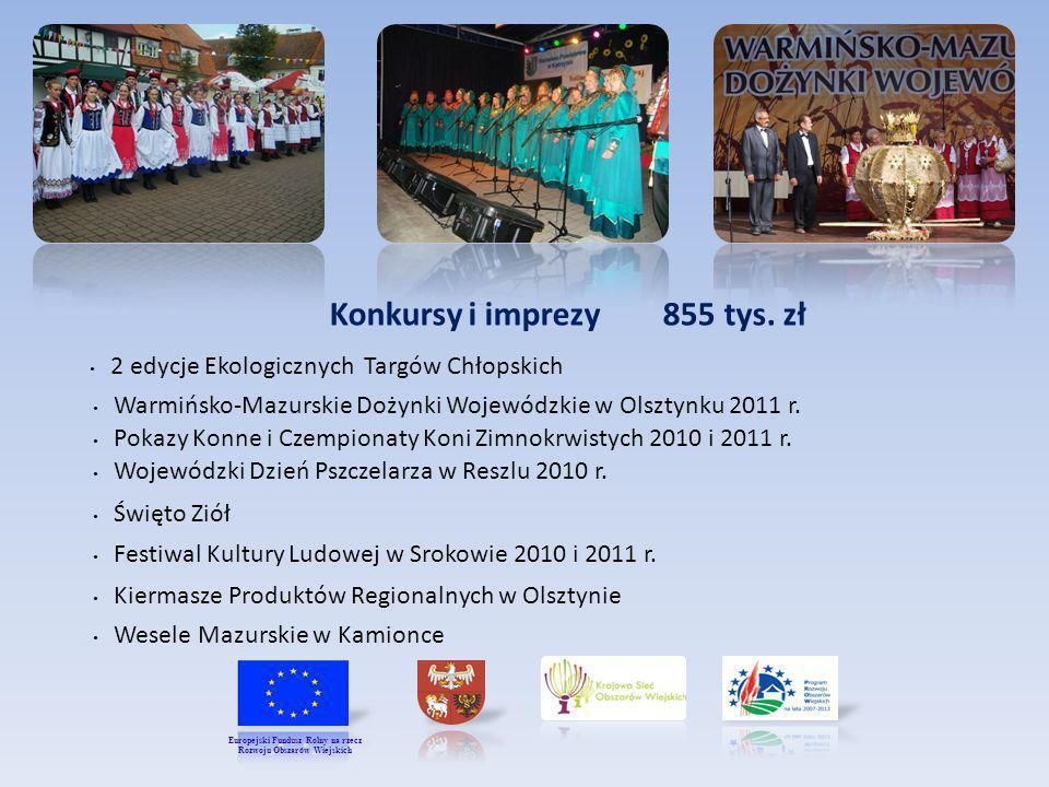Konkursy i imprezy 855 tys.zł Warmińsko-Mazurskie Dożynki Wojewódzkie w Olsztynku 2011 r.