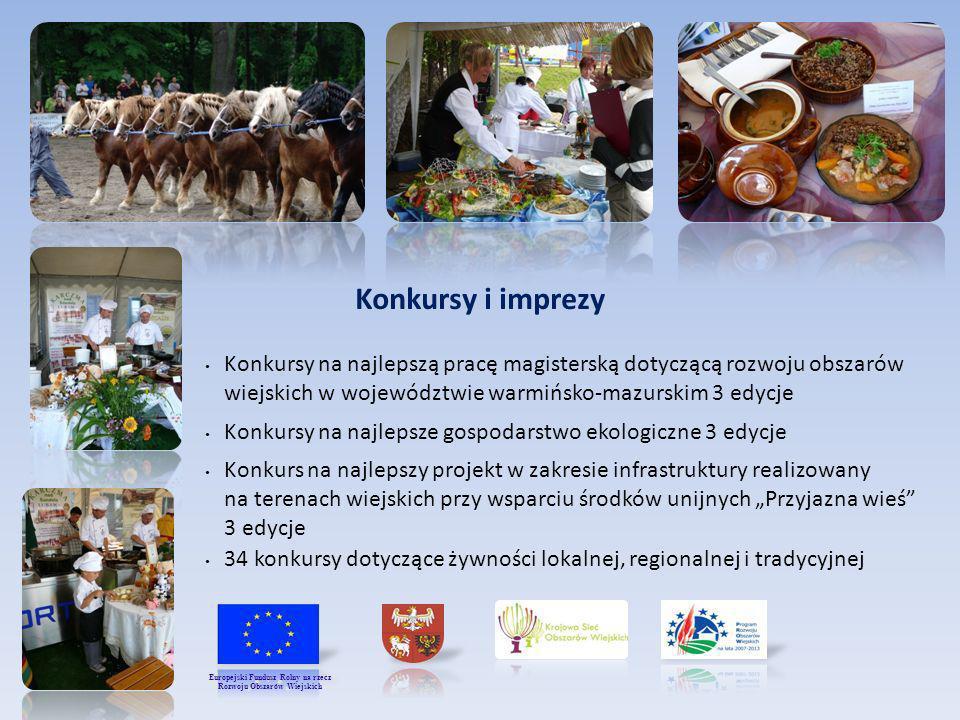 Konkursy i imprezy Konkursy na najlepszą pracę magisterską dotyczącą rozwoju obszarów wiejskich w województwie warmińsko-mazurskim 3 edycje Konkursy n