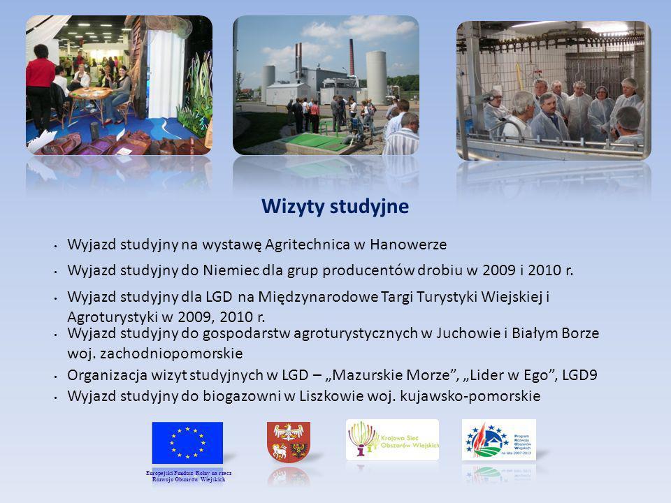 Wizyty studyjne Wyjazd studyjny dla LGD na Międzynarodowe Targi Turystyki Wiejskiej i Agroturystyki w 2009, 2010 r. Wyjazd studyjny do Niemiec dla gru