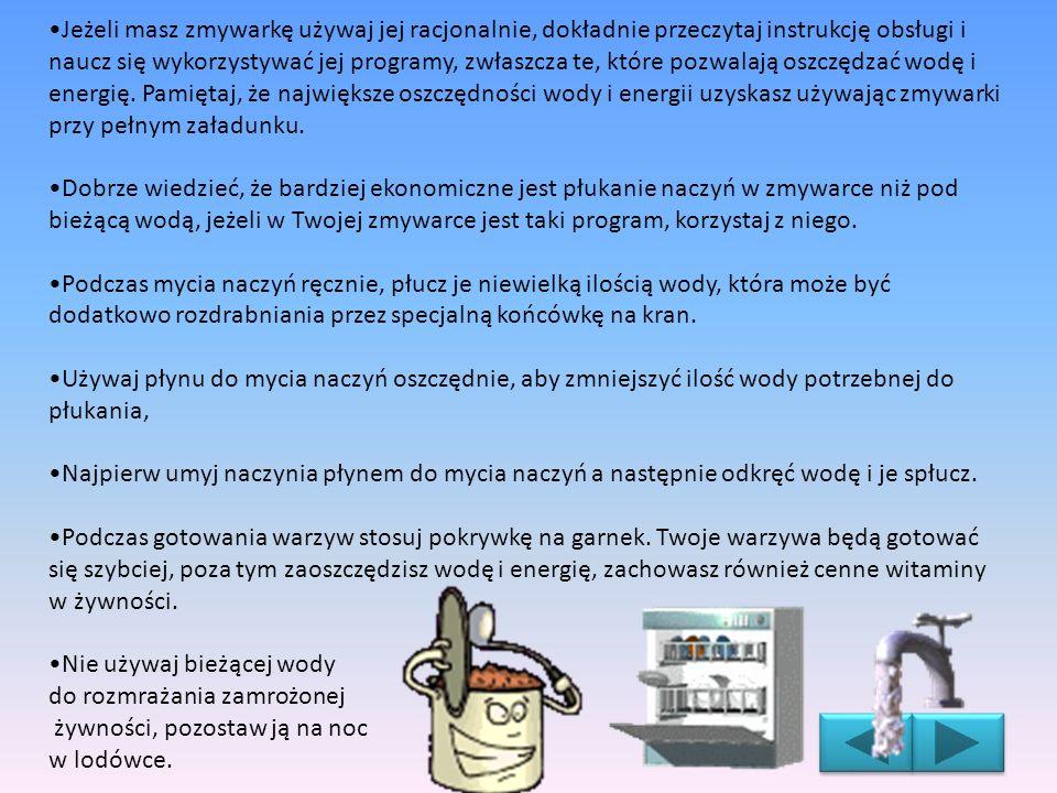 Jeżeli masz zmywarkę używaj jej racjonalnie, dokładnie przeczytaj instrukcję obsługi i naucz się wykorzystywać jej programy, zwłaszcza te, które pozwa