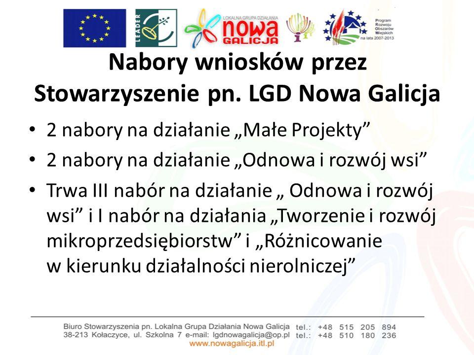 Nabory wniosków przez Stowarzyszenie pn.