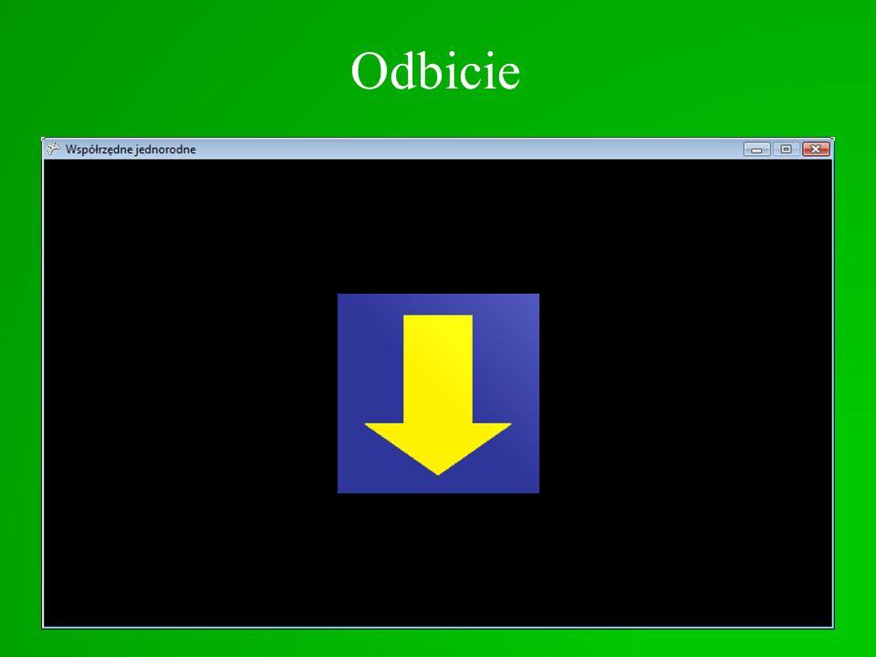 Odbicie Odbicie = ujemne skalowanie efekt.World = Matrix.Identity; Matrix macierz = new Matrix(1, 0, 0, 0, 0, -1, 0, 0, 0, 0, 1, 0, 0, 0, 0, 1); macie