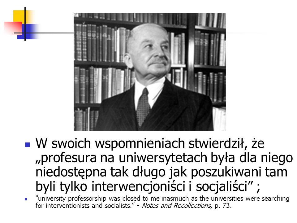 Oskar Lange - socjaliści powinni wystawić Misesowi pomnik To dzięki temu, że socjaliści musieli odeprzeć jego poważny zarzut, docenili znaczenie systemu kalkulacji ekonomicznej dla poprawnej alokacji zasobów w gospodarce socjalistycznej.