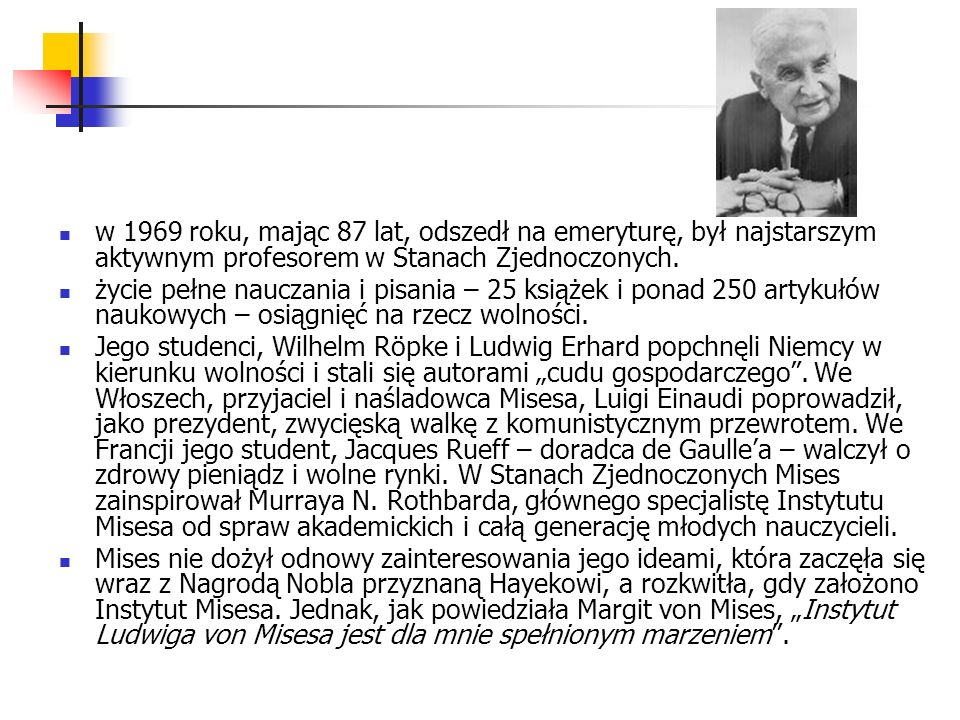 Fragment listu F.A.Hayeka do prof. Misesa z 7 marca 1956 roku Profesorze Mises.