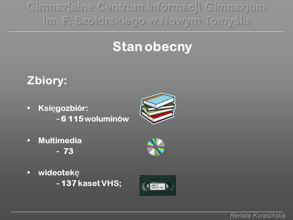 Zbiory: Ksi ę gozbiór: - 6 115 woluminów Multimedia - 73 wideotek ę - 137 kaset VHS; Stan obecny