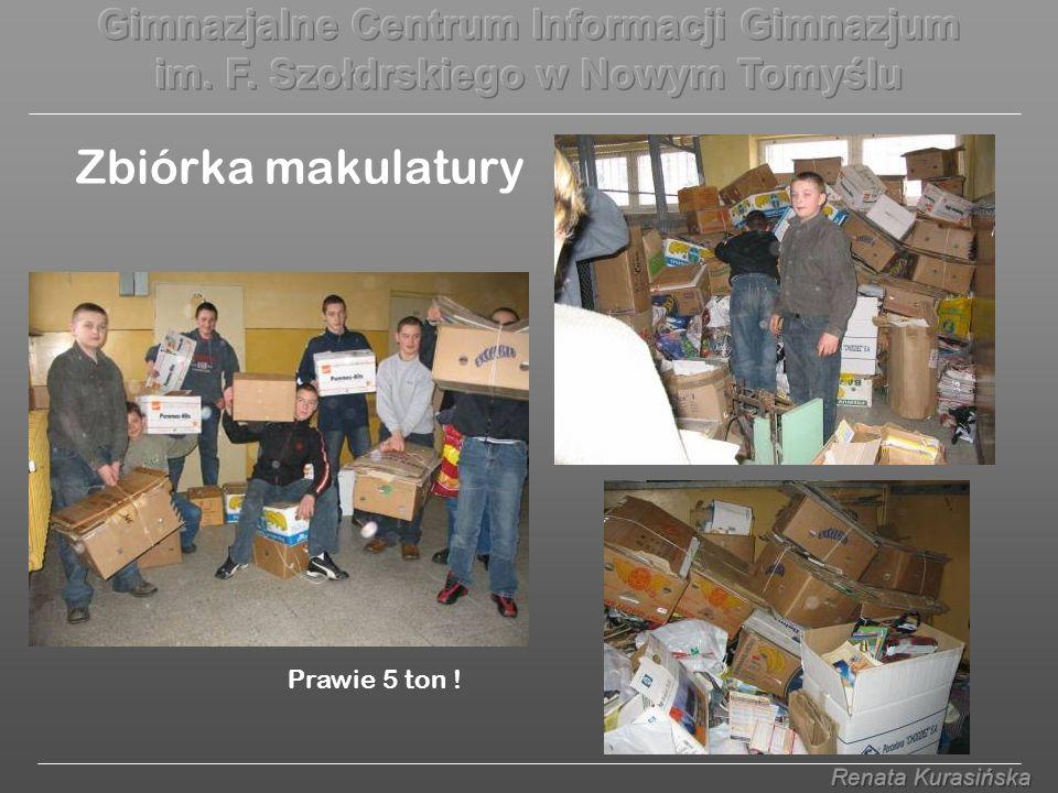 Zbiórka makulatury Prawie 5 ton !